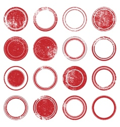 Red Ronded Grunge Stamp vector image