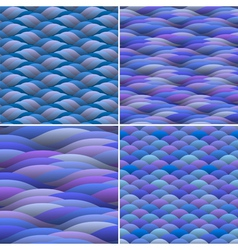 Seamless background of abstract waves vector image