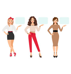 casual fashion woman presentation vector image