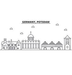 germany potsdam architecture line skyline vector image vector image
