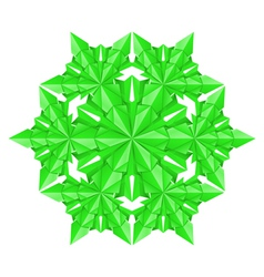 green paper snowflake vector image