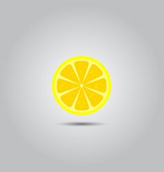 lemon slice icon vector image