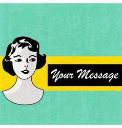 Retro Message Background vector image