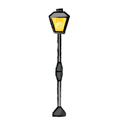 street light icon vector image vector image