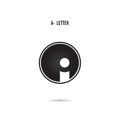 A-letter abstract logo vector