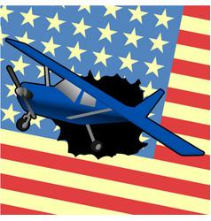 american plane vector image