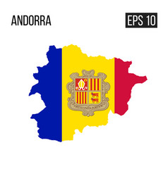 andora map border with flag eps10 vector image