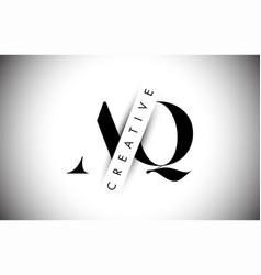 Aq a q letter logo with creative shadow cut vector