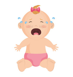 baby clothes crying vector image