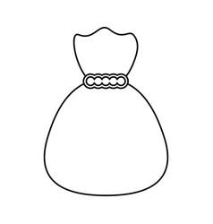 Bag of money symbol vector