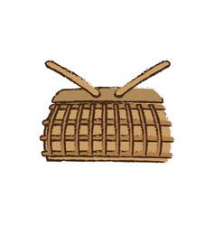 basket winker picnic vector image