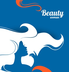 Beautiful fashion woman silhouette paper design vector