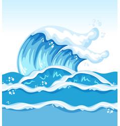 Big wave in ocean vector