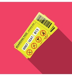 Business style icon of boarding pass to economy vector image