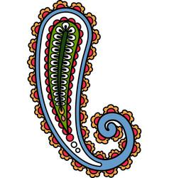 Buta paisley oriental decor abstract ethnic motif vector