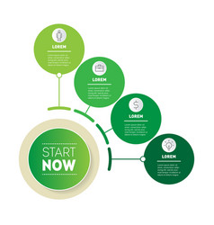 Button eco business presentation with four vector