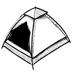 Camping tent vector image