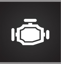 Car gear box on black background for graphic and vector