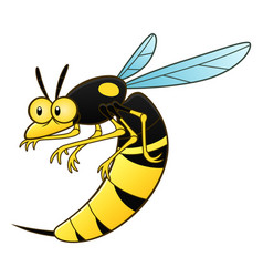 Cartoon wasp pest vector
