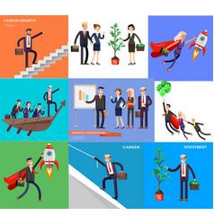 character busimen business character busimen vector image