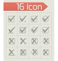 Check marks icon set vector image