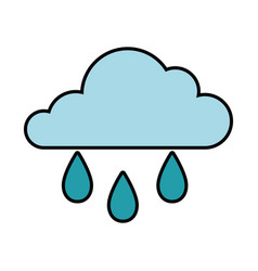 Cloud and water drops icon vector