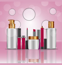 cosmetics makeup related vector image