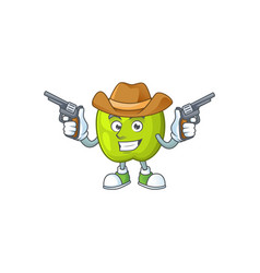 Cowboy granny smith in a green apple character vector
