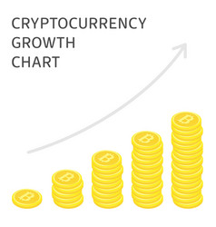 cryptocurrency growth chart vector image