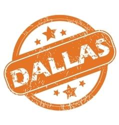 Dallas rubber stamp vector