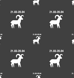 Decorative Zodiac Aries sign Seamless pattern on a vector