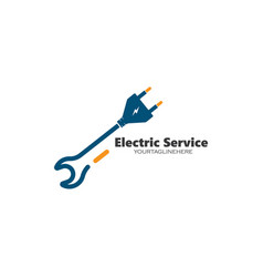 Electrical service and installation logo icon vector
