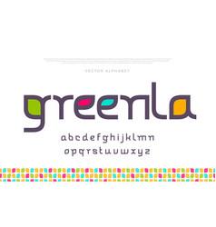 elegant modern minimal font vector image