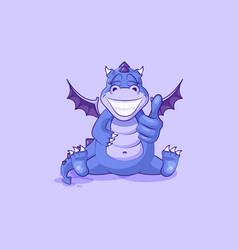 Emoji character cartoon dragon dinosaur vector