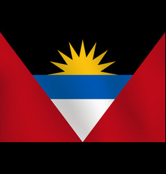 flag of antigua and barbuda - vector image