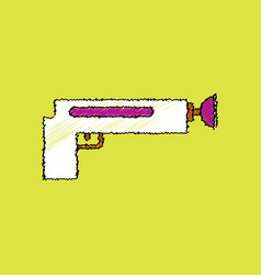 flat shading style icon kids gun vector image