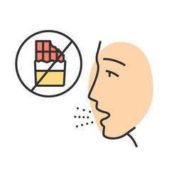 Food allergy color icon vector