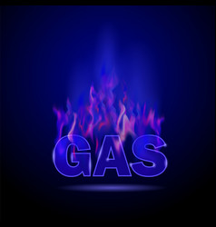 Gas burning fire vector