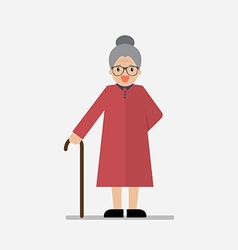 Grandma standing full length smiling vector