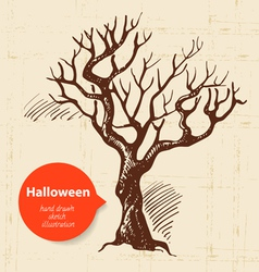 Hand drawn halloween background vector