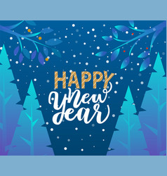 happy new year caption greeting with holiday vector image