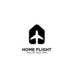 Home flight logo simple line logo template vector