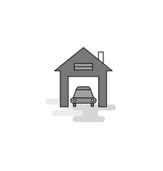 house garage web icon flat line filled gray icon vector image