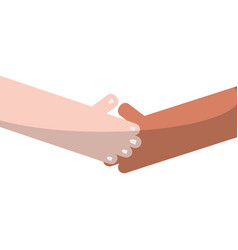Humans shaking hands with fingers and nails vector