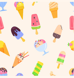 ice cream - colorful flat design style pattern vector image