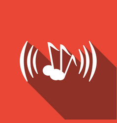 icon music with a long shadow vector image