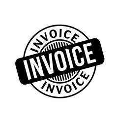 Invoice typographic stamp vector
