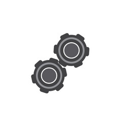 isolated pulley flat icon belt element can vector image