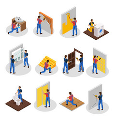 Isometric home repair set vector