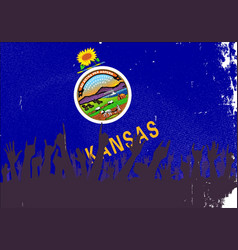 Kansas state flag with audience vector